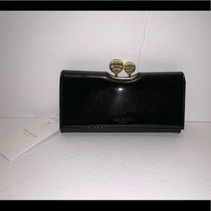 Ted Baker London Black &Gold Patent Leather Wallet